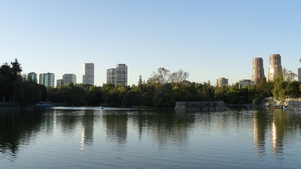 chapultepec forest lake mexico landscape