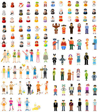 character vector icon vector