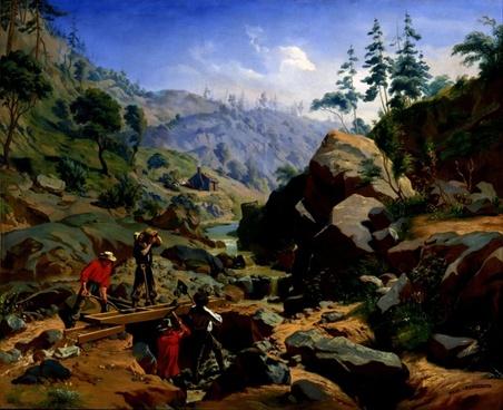 charles christian nahl landscape mountains