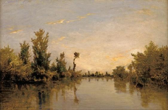 charles daubigny painting oil on canvas