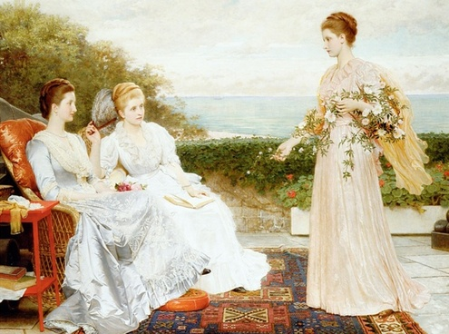 charles perugini painting oil on canvas