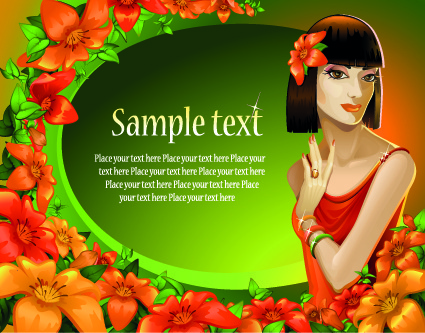 charm girl design elements vector