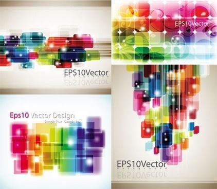 charming colored background creative vector