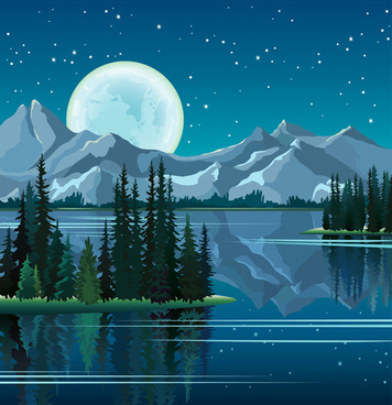 charming night vector background