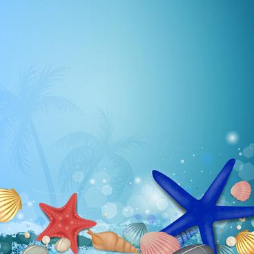 charming sea landscape vector