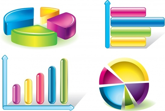 charts templates modern shiny colorful pie column shapes