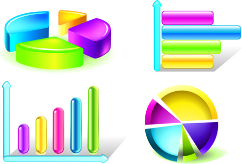 charts and information elements vector