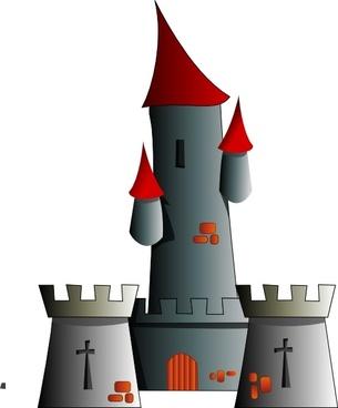 Chateau Citadel Fort Castle clip art