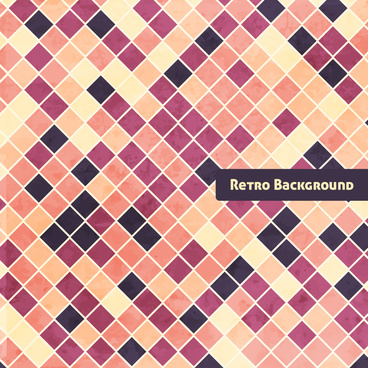 checkerboard retro grunge background