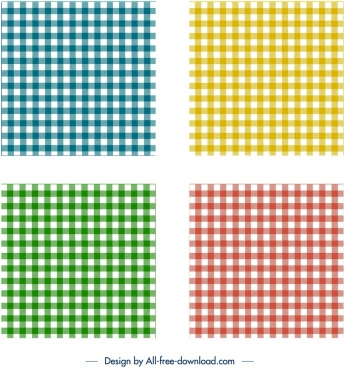checkered pattern templates classical colored flat decor