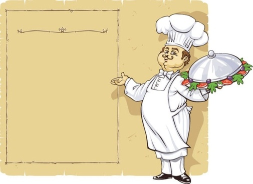 chef menu vector