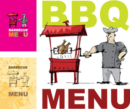 chef with menu cover templates vector graphic