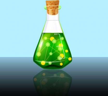 chemistry background lab jar icon multicolor reflection design