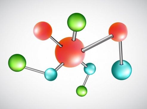 chemistry background molecule connection design 3d decor