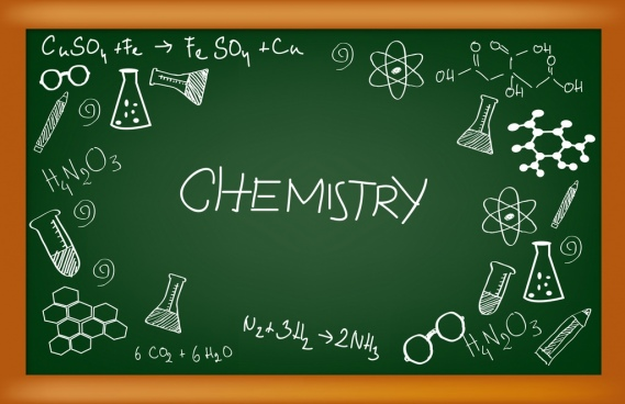 chemistry design elements chalkboard decoration handdrawn style