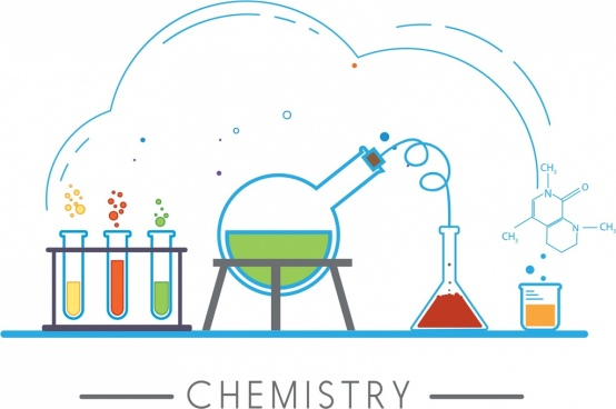 chemistry design elements lab tools icons sketch
