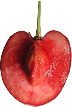 cherries pulp sliced