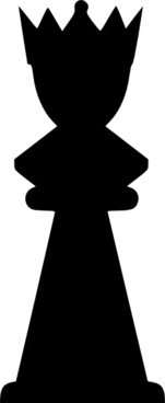 Chess Black Queen clip art