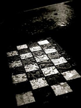 chess chess board rain