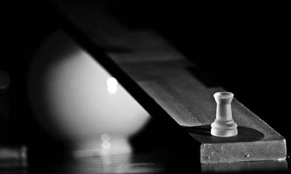chess tower black and white