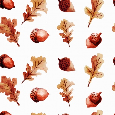chestnut leaf background brown repeating icons