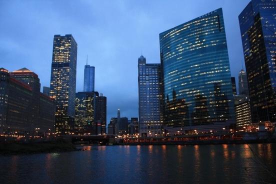 chicago chicago night chicago river