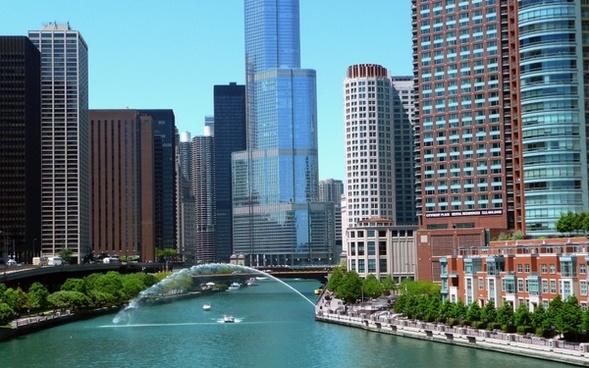 chicago illinois usa downtown