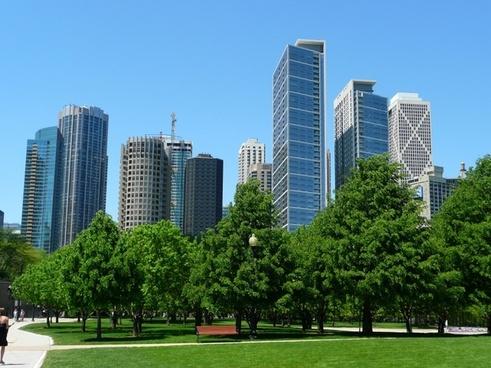 chicago skyline skyscraper