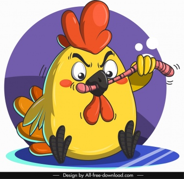chick animal avatar funny cartoon character sketch
