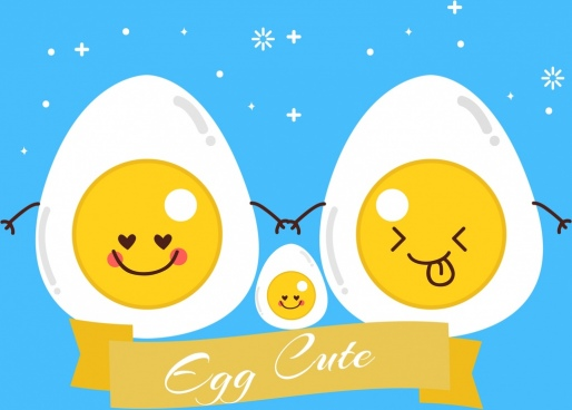 chicken eggs background cute stylized cartoon decor