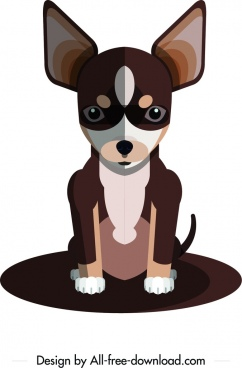 chihuahua dog icon cute cartoon character