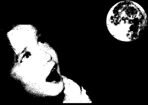 child and moon