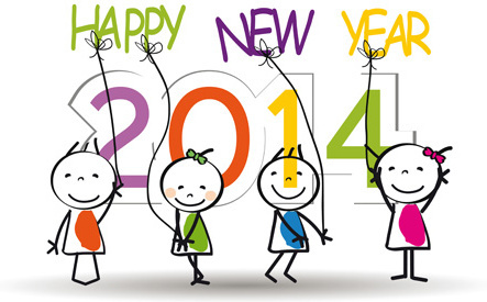 child and new year14 vector