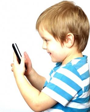 child and phone