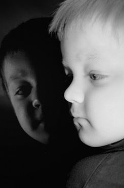 child and reflection