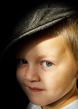 child in a hat