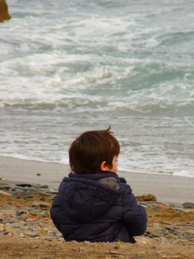 child sea beach