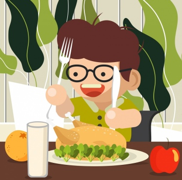 People eating food free vector download (13,928 Free vector) for commercial  use. format: ai, eps, cdr, svg vector illustration graphic art design