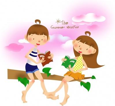 children39s summer vector
