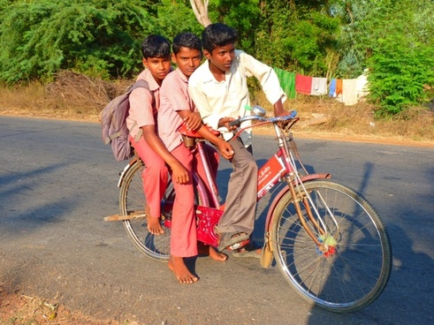 children bike cycling