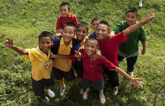 children colourful kids