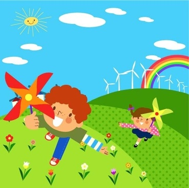 children environment vector 7