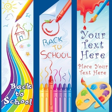 children lovely painting theme vector