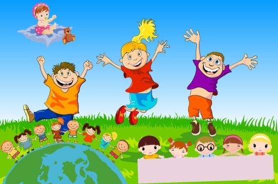 children theme vector