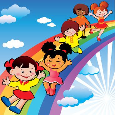 Children Vector Rainbow Free Vector Download 2 234 Free Vector For