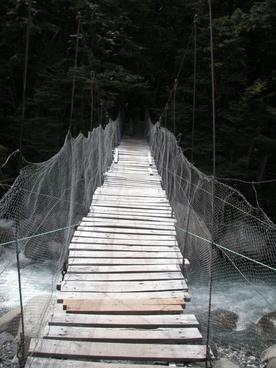 chile river suspension bridge