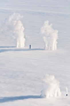 chimneys and weather inversion