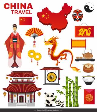 china culture design elements classical oriental symbols