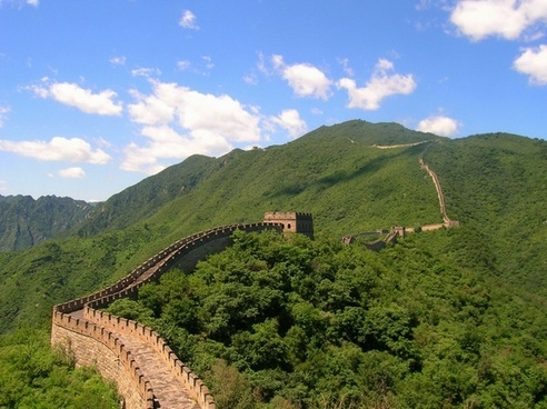 china great wall of china sky