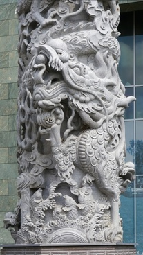 chinese architecture column